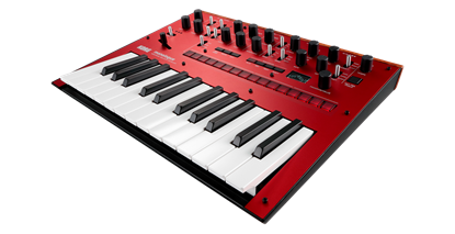 Korg monologue Monophonic Analogue Synthesizer Red - angle view