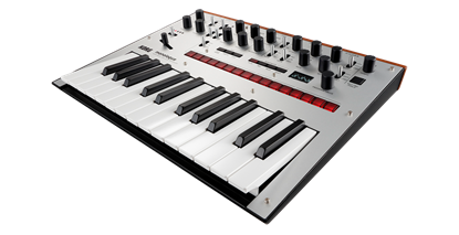 Korg monologue Monophonic Analogue Synthesizer Silver - angle view