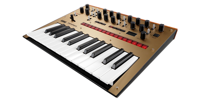 Korg monologue Monophonic Analogue Synthesizer Gold - angle view