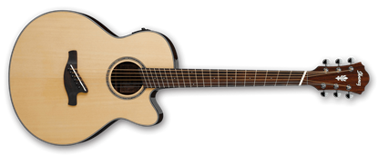 Ibanez AELFF10 NT Acoustic Guitar Fanned Frets Natural