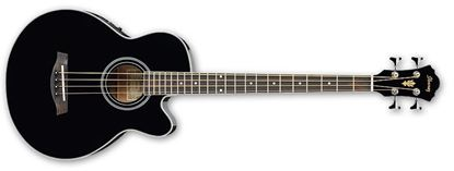 Ibanez AEB8E BK Acoustic Bass Guitar Black