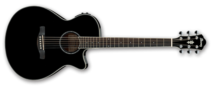 Ibanez AEG10II BK Acoustic Guitar Black High Gloss