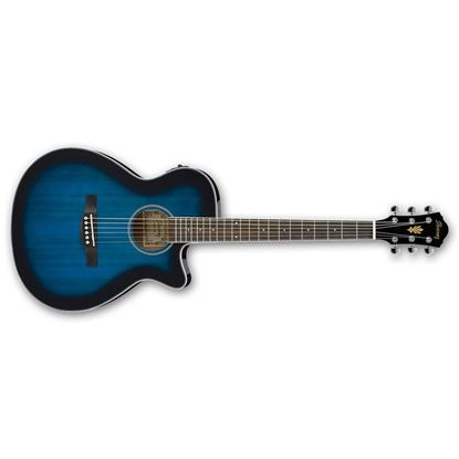 Ibanez AEG8E TBS Acoustic Guitar w P/up Trans Blue Sunburst