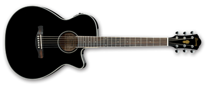 Ibanez AEG8E BK Acoustic Guitar w P/up Trans Black