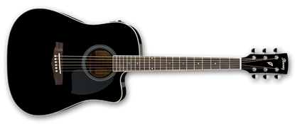Ibanez PF15ECE BK Acoustic Guitar Black High Gloss