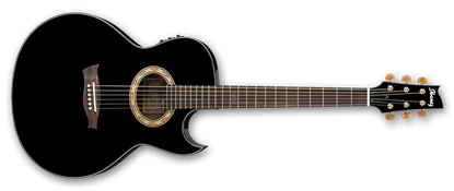 Ibanez EP5 BP Steve Vai Signature Acoustic Guitar Black Pearl High Gloss
