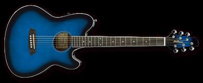 Ibanez TCY10E TBS Talman Acoustic Guitar Trans Blue Sunburst