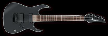 Ibanez RGIR37BFE BKF Iron Label 7-String Electric Guitar Black Flat