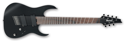 Picture of Ibanez RGIM7MH WK Iron Label 7-String Multi-Scale Electric Guitar Weathered Black