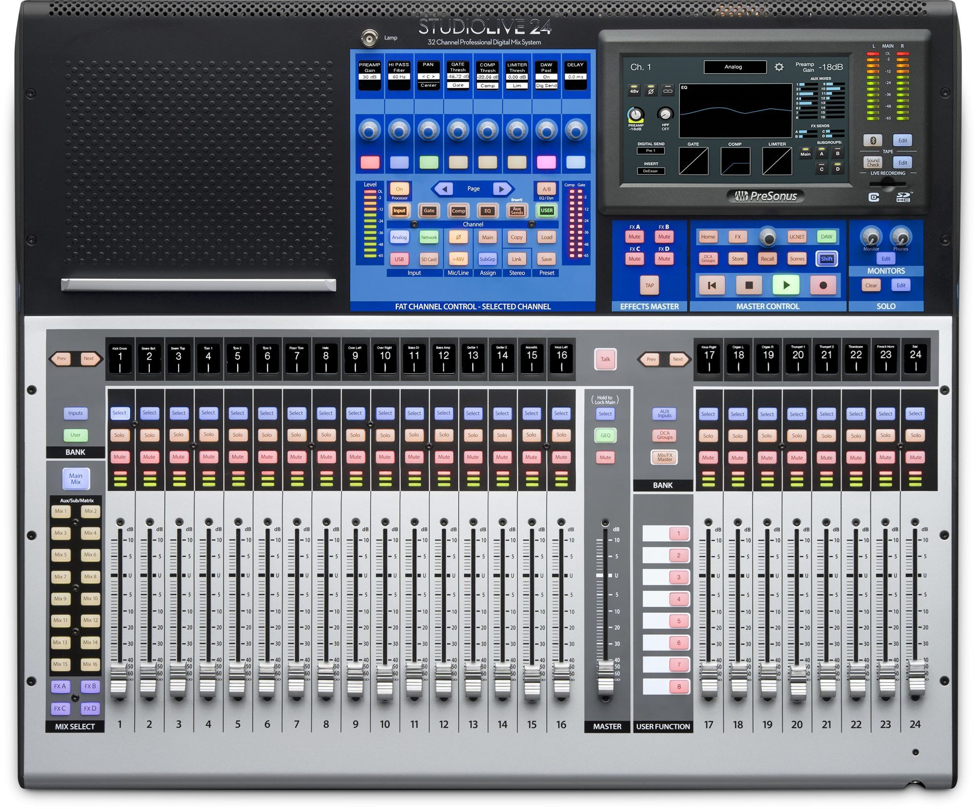 PreSonus StudioLive 24 Digital Mixing Console - 24 Channel w Motorised  Faders