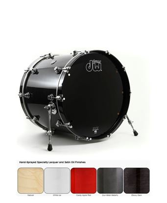 DW Performance Lacquered Series Bass Drum (Single Bass/Kick Drum - Select Colour and Size)