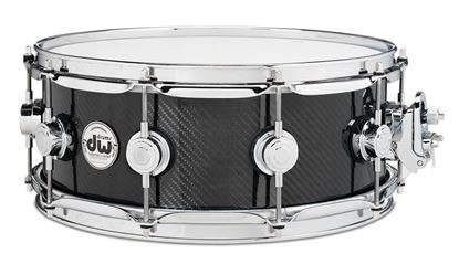 "DW Collectors Series Snare Drum 14x6.5"" Carbon Fiber With Chrome Hardware"