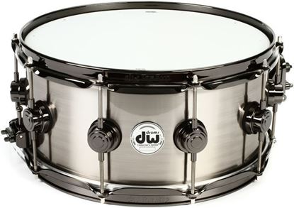 "DW Titanium 14x6.5"" Snare Drum Black Nickel Chrome Hardware - Thomas Lang Clinic Kit"