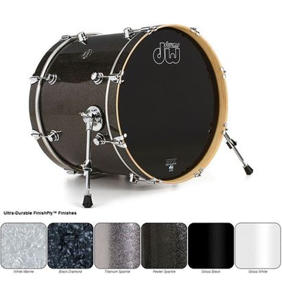 DW Performance Finish Ply Series Bass/Kick Drum (Single Bass Drum - Select Colour and Size)