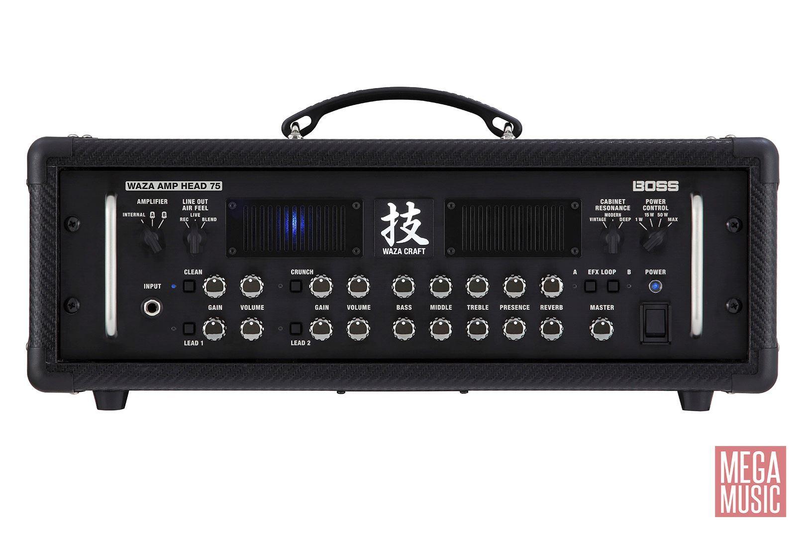 boss waza amp head 75 guitar amplifier wazahd75 perth mega music online. Black Bedroom Furniture Sets. Home Design Ideas