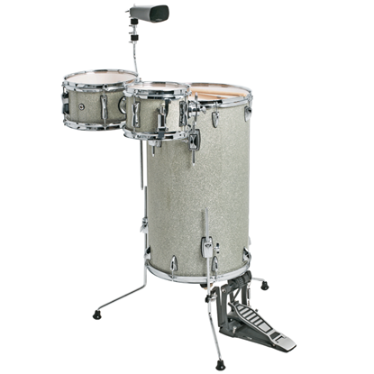 DXP TXP81SS Cocktail Percussion Kit Silver Sparkle