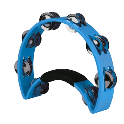 Rhythm Tech The Original Nickel Half Moon Tambourine Blue