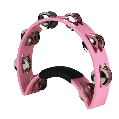 Rhythm Tech The Original Nickel Half Moon Tambourine Pink