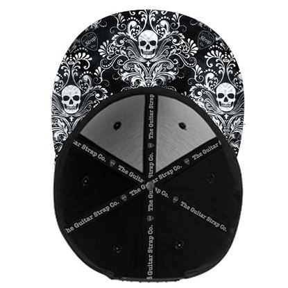 The Guitar Strap Co - Skull Print Snapback Cap