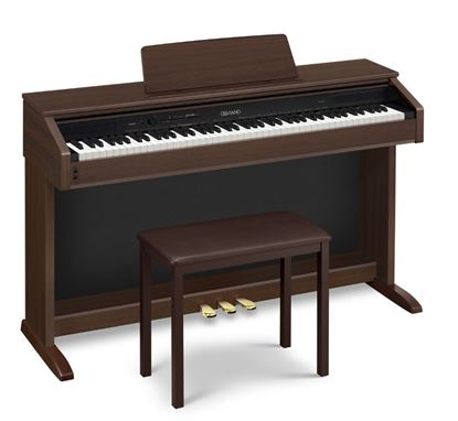 Casio AP-260 Celviano Digital Piano, Brown with Seat (AP260)