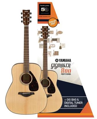 Yamaha FG800M GIGMAKER Acoustic Guitar Pack Matte