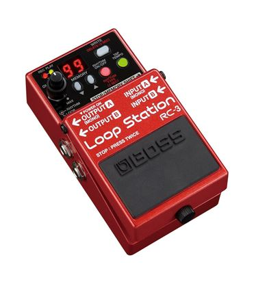Boss RC-3 Loop Station Guitar Effects Looper Pedal - angle view