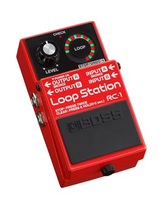 Boss RC-1 Loop Station Guitar Effects Pedal - angle view