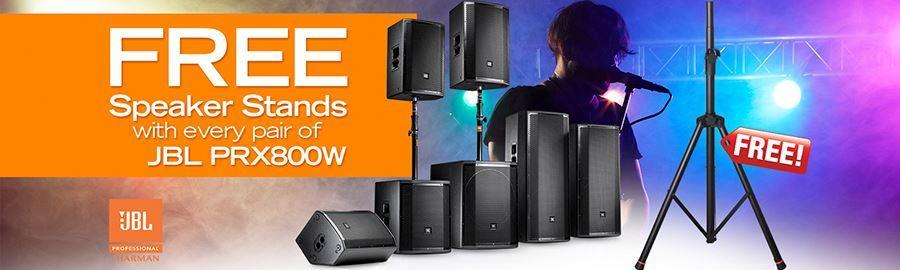 FREE Speaker Stands with JBL PRX800W