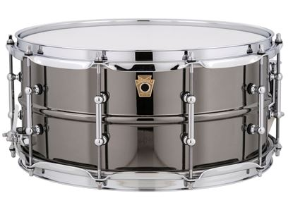 Ludwig 14 x 6.5 inch Black Beauty Snare Drum Smooth Shell with Tube Lugs