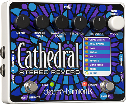 Electro Harmonix EHX Cathedral Guitar Effects Pedal