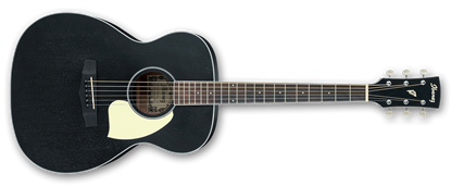 Ibanez PC14-WK Grand Concert Acoustic Guitar in Weathered Black