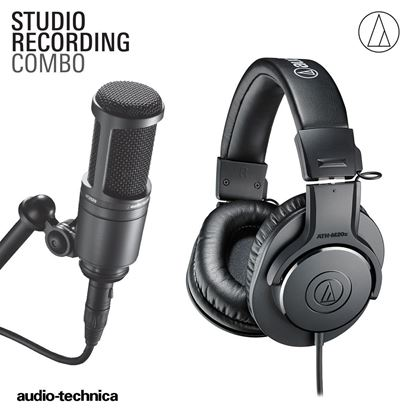 Audio-Technica Studio Recording Combo Pack (Includes AT2020 Mic and M20x Headphones)