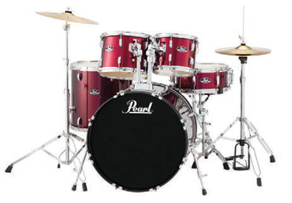 Pearl Roadshow RS525SCC 5 Piece 22 Inch Fusion Plus Drum Kit Complete (Select Colour)
