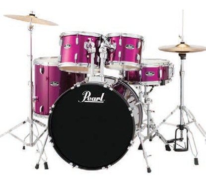 Pearl Roadshow RS505CC 5 Piece 20 Inch Fusion Drum Kit Complete (Select Colour)
