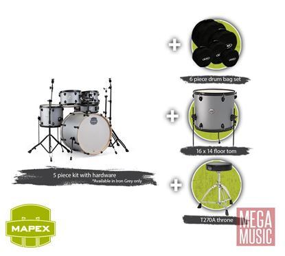 Mapex Storm Drum Kit Bundle Iron Grey