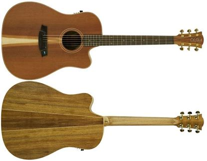 Cole Clark Fat Lady 2 Acoustic Guitar - Redwood Blackwood - Rosewood Fretboard (CCFL2ECRDBLR)