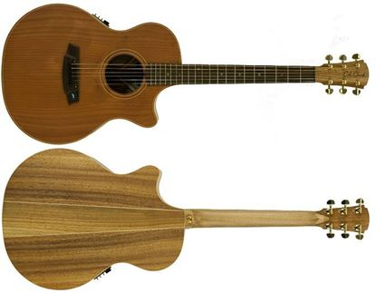 Cole Clark Angel 2 Acoustic Guitar - Redwood Blackwood - Rosewood Fretboard (CCAN2ECRDBLR)