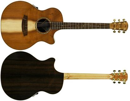 Cole Clark Angel 2 Acoustic Guitar with Pickup/Cutaway - Redwood/Rosewood Gloss - Rosewood Fretboard