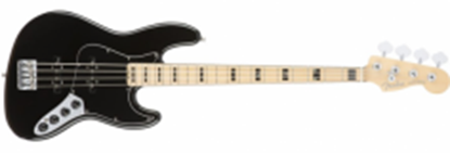 Fender American Elite Jazz Bass Guitar MN, Black