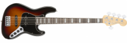 Fender American Elite Jazz Bass Guitar V RW, 3-Colour Sunburst (5-String)