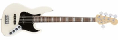 Fender American Elite Jazz Bass Guitar V RW, Olympic White (5-String)