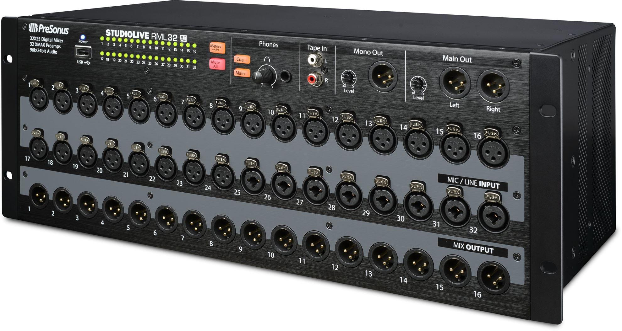 presonus rml32ai rack mount digital mixer 32 input perth mega music online. Black Bedroom Furniture Sets. Home Design Ideas