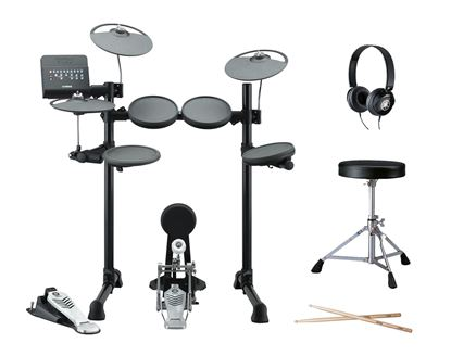 Yamaha DTX450PLUS Electronic Drum Kit with Headphones, Stool and Sticks