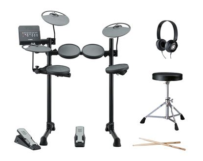 Yamaha DTX400PLUS Electronic Drum Kit with Headphones, Stool and Sticks