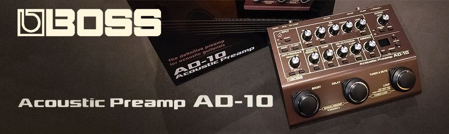 Review of the BOSS AD-10 Acoustic Preamp