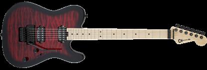 Charvel Pro Mod San Dimas Style 2 HH Floyd Rose Maple Neck Electric Guitar Transparent Red Burst