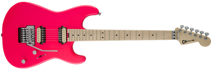 Charvel Pro Mod San Dimas Style 1 HH Floyd Rose Maple Neck Electric Guitar Neon Pink