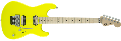 Charvel Pro Mod San Dimas Style 1 HH Floyd Rose Maple Neck Electric Guitar Neon Yellow