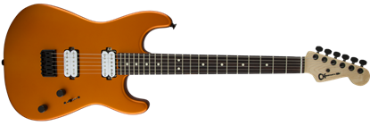 Charvel Pro Mod San Dimas Style 1 HH Dark Wood Electric Guitar Satin Orange Blaze
