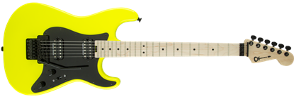 Charvel Pro Mod So-Cal Style 1 HH Floyd Rose Maple Neck Electric Guitar Neon Yellow